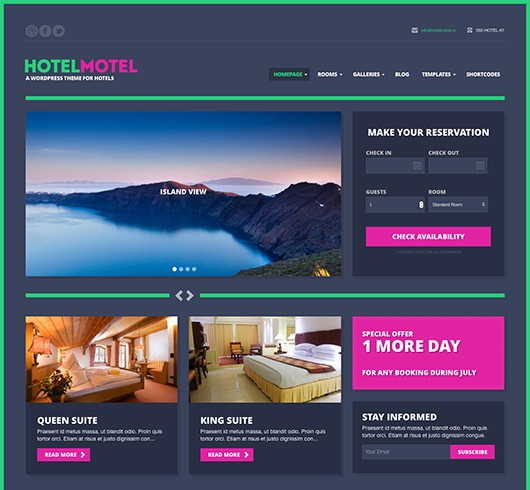 Screenshot of Hotel Theme HotelMotel