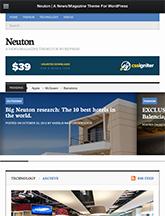 Screenshot of News/Magazine WordPress theme Neuton on Mini Tablet