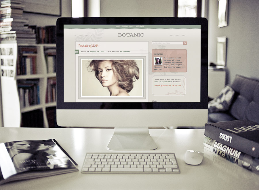 Screenshot of Blogging WordPress theme Botanic on Desktop