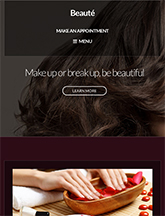 Screenshot of Beauty/Health WordPress theme Beaute on Mini Tablet