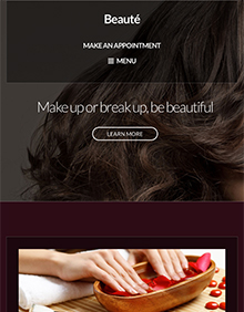 Screenshot of Beauty/Health WordPress theme Beaute on Tablet