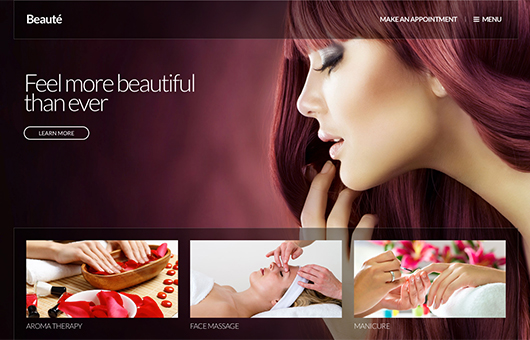 Screenshot of Beauty/Health WordPress theme Beaute on Laptop