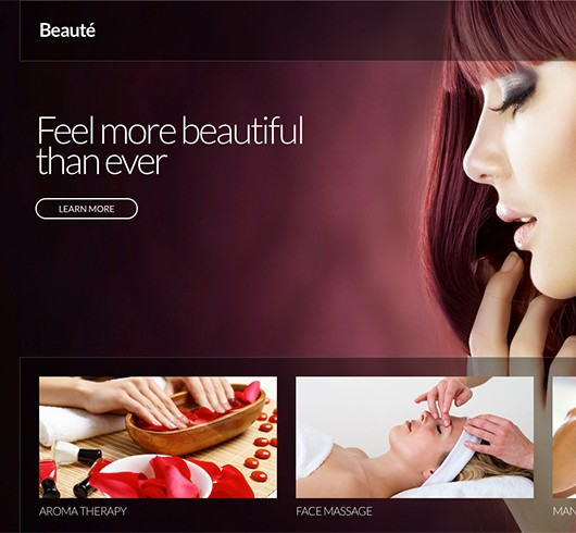 Screenshot of Beauty/Health WordPress theme Beaute