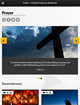 Screenshot of Church theme for WordPress Prayer on Mini Tablet