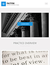 Screenshot of Law theme for WordPress Factum on Mini Tablet