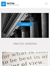 Screenshot of Law theme for WordPress Factum on Mini Tablet