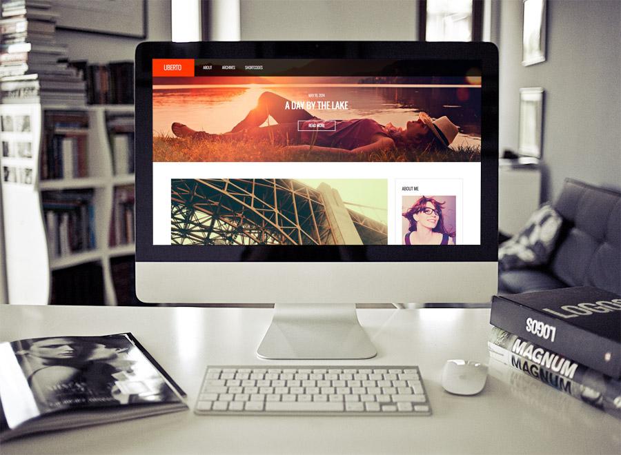 Screenshot of Blogging WordPress theme Uberto on Desktop
