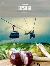 Screenshot of Photography theme for WordPress Coastline on Mini Tablet
