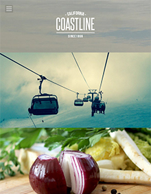 Screenshot of Photography theme for WordPress Coastline on Tablet