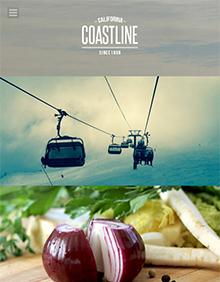 Screenshot of Photography theme for WordPress Coastline on Tablet