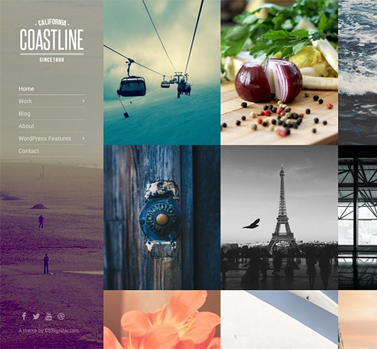 Screenshot of Photography theme for WordPress Coastline