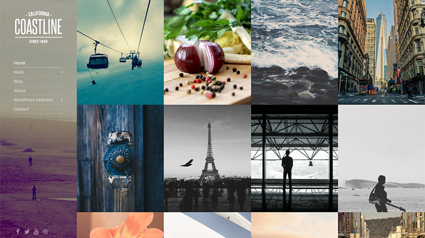 Screenshot of Photography theme for WordPress Coastline on Desktop