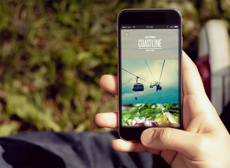Screenshot of Photography theme for WordPress Coastline on Smartphone