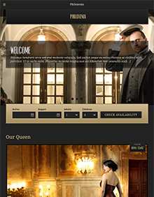 Screenshot of Hotel WordPress theme Philoxenia on Tablet