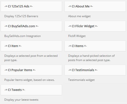 widgets