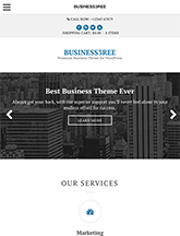 Screenshot of Business WordPress Theme Business3ree on Mini Tablet