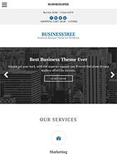 Screenshot of Business WordPress Theme Business3ree on Mini Tablet