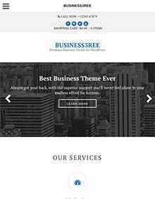 Screenshot of Business WordPress Theme Business3ree on Tablet