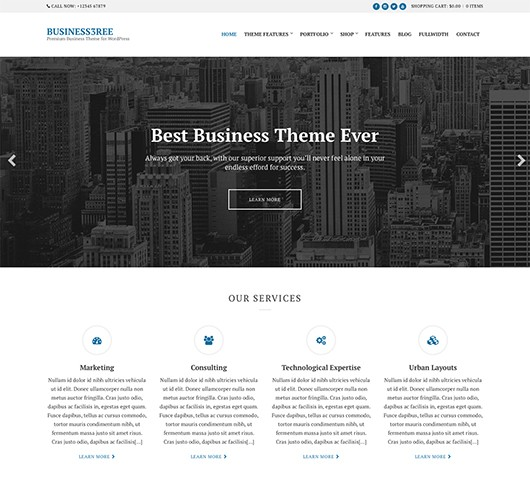 Screenshot of Business WordPress Theme Business3ree