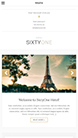 Screenshot of Hotel/Resort theme for WordPress SixtyOne on Smartphone