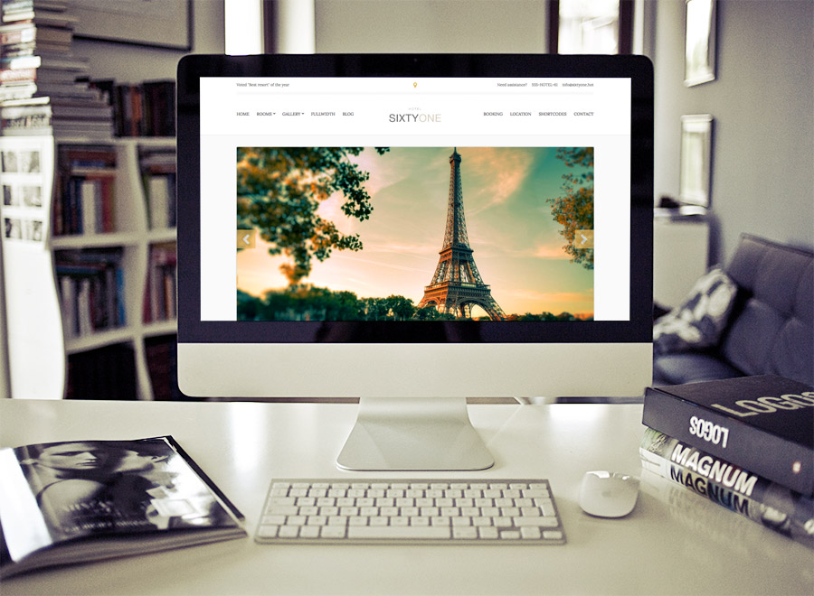 Screenshot of Hotel/Resort theme for WordPress SixtyOne on Desktop