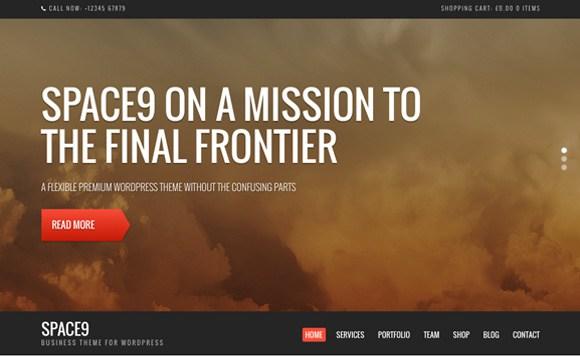Space9 - Business Premium WordPress Theme