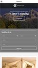 Screenshot of Hotel theme for WordPress Olympus Inn on Smartphone