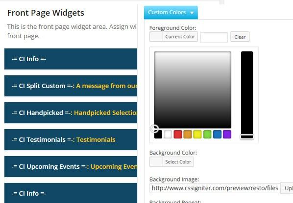 resto-widgets