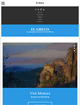 Screenshot of Travel Guide theme for WordPress El Greco on Mini Tablet