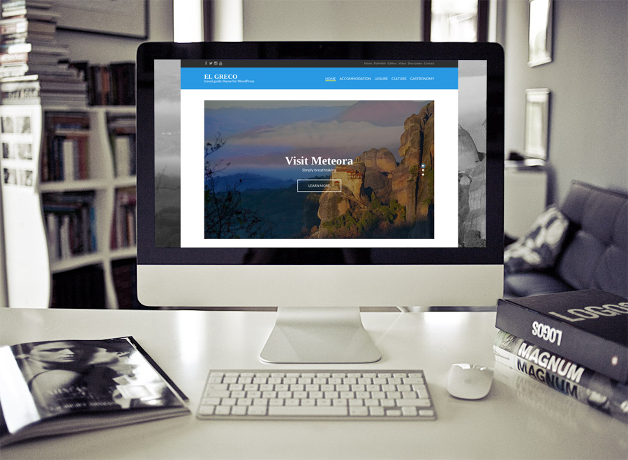 Screenshot of Travel Guide theme for WordPress El Greco on Desktop