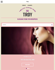 Screenshot of Blogging theme for WordPress Troy on Tablet