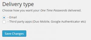 Password delivery type