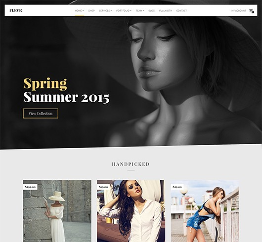 Screenshot of Business/WooCommerce theme for WordPress Flevr
