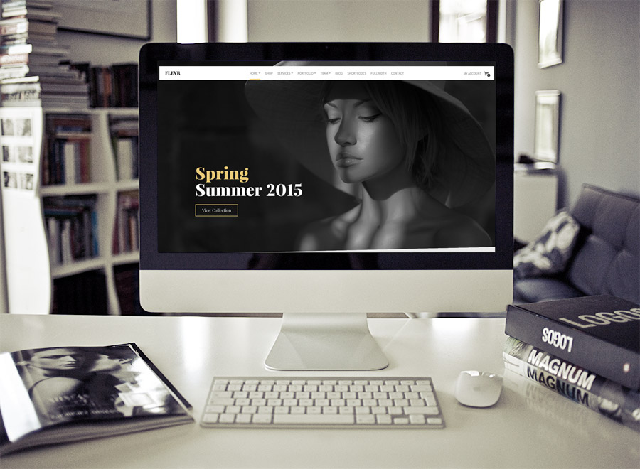 Screenshot of Business/WooCommerce theme for WordPress Flevr on Desktop