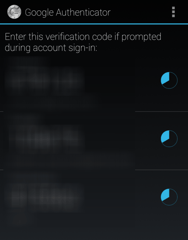Mobile view after the account is registered