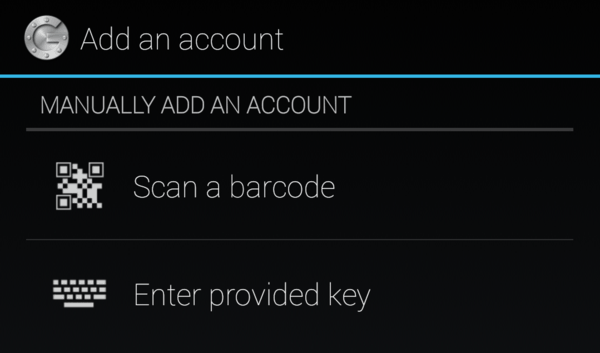 Scan bar-code to add account