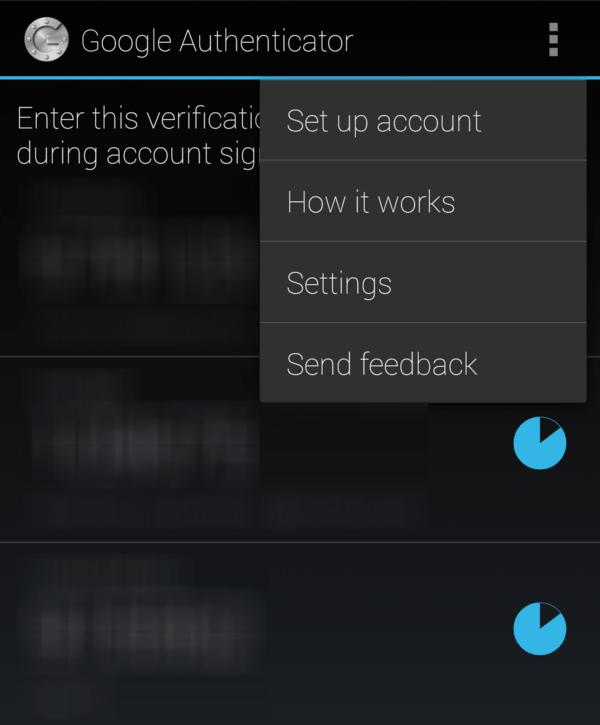 Google authenticator setup on mobile