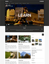 Screenshot of Video Blogging theme for WordPress Vidiho on Mini Tablet