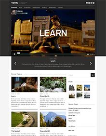 Screenshot of Video Blogging theme for WordPress Vidiho on Tablet