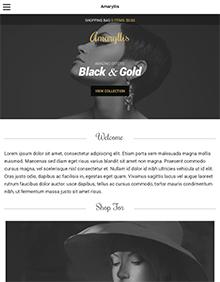 Screenshot of WooCommerce WordPress theme Amaryllis on Tablet