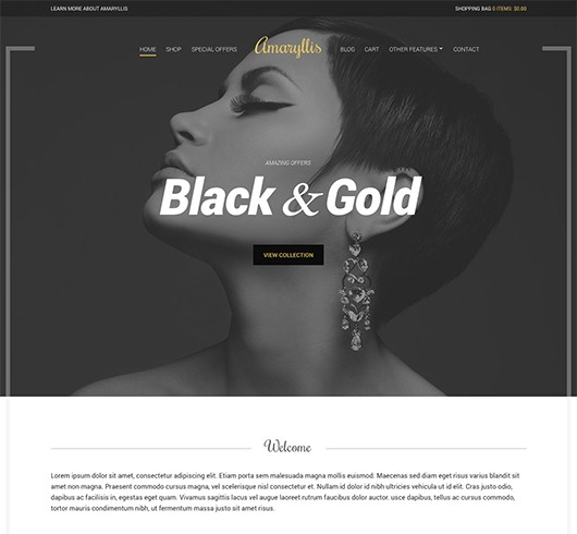 Screenshot of WooCommerce WordPress theme Amaryllis