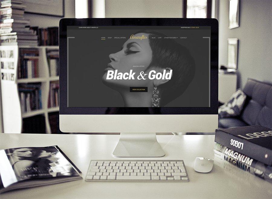 Screenshot of WooCommerce WordPress theme Amaryllis on Desktop