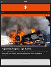 Screenshot of News/Magazine WordPress theme Tabloid on Mini Tablet