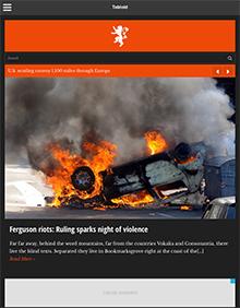 Screenshot of News/Magazine WordPress theme Tabloid on Tablet