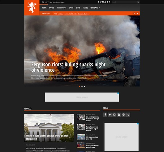 Screenshot of News/Magazine WordPress theme Tabloid