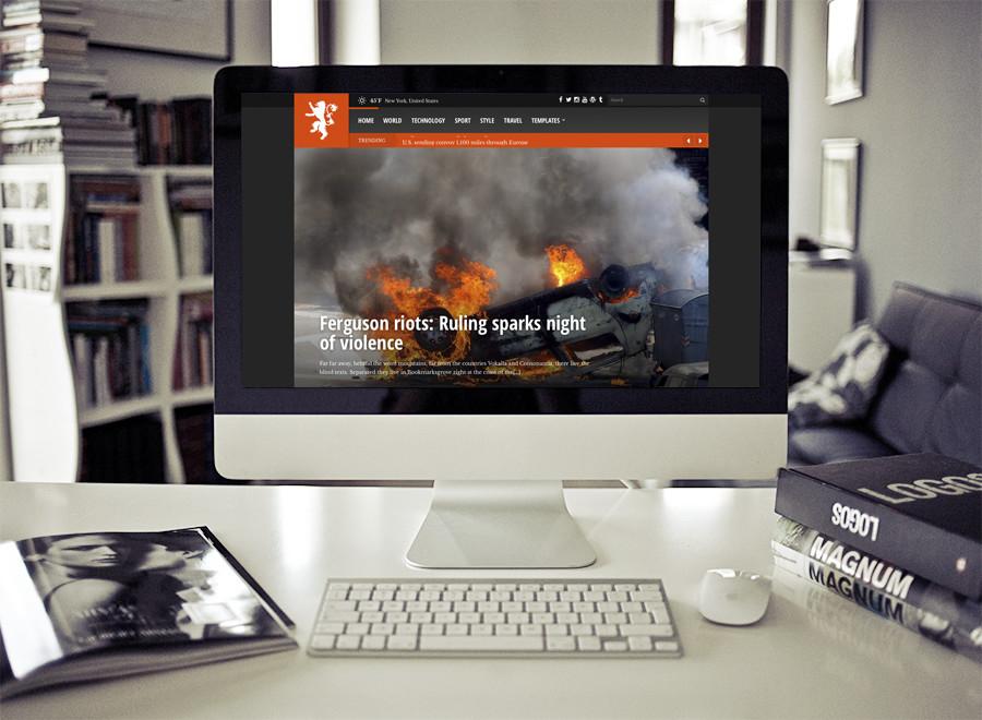 Screenshot of News/Magazine WordPress theme Tabloid on Desktop