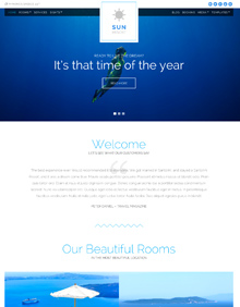 Screenshot of Hotel WordPress theme Sun Resort on Tablet