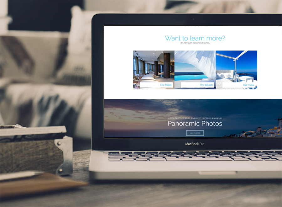 Screenshot of Hotel WordPress theme Sun Resort on Laptop