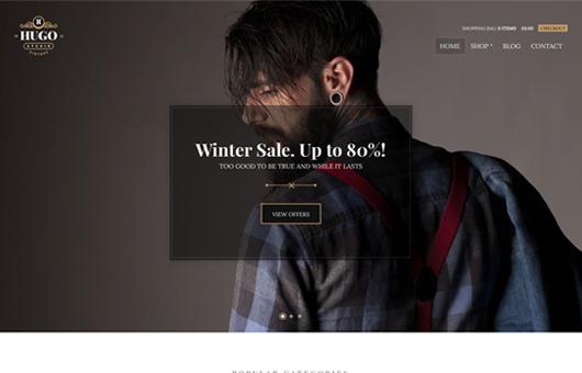 Screenshot of WooCommerce theme for WordPress Hugo on Laptop