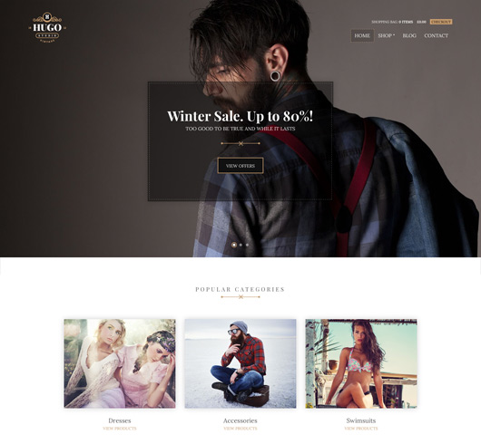 Screenshot of WooCommerce theme for WordPress Hugo